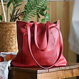 Nina (kožená taška červená)