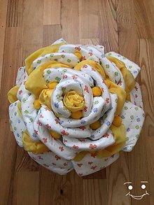 Detské doplnky - Plienková torta - Žltá ruža - 10359593_