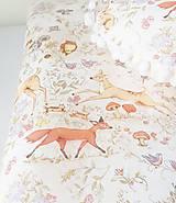 Textil - detská deka lesné zvieratká (Béžová minky) - 10362120_