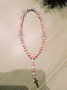Iné doplnky - Ružový ruzencek Ninka - 10360969_