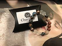 Náramky - Náramok Cloisonne s perlami Swarovski / Cloisonne Bracelet with Swarovski pearls - 10359110_