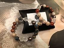 Náramky - Náramok Cloisonne s perlami Swarovski / Cloisonne Bracelet with Swarovski pearls - 10359112_