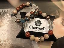 Náramky - Náramok Cloisonne s perlami Swarovski / Cloisonne Bracelet with Swarovski pearls - 10359114_