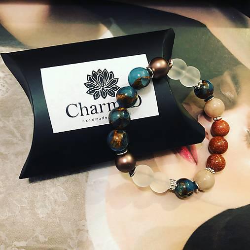 Náramok Cloisonne s perlami Swarovski / Cloisonne Bracelet with Swarovski pearls