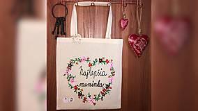 Nákupné tašky - ♥ Plátená, ručne maľovaná taška ♥ (MI7) - 10361015_