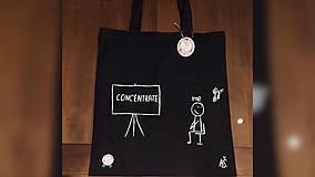 Iné tašky - ♥ Plátená, ručne maľovaná taška ♥ - 10361403_