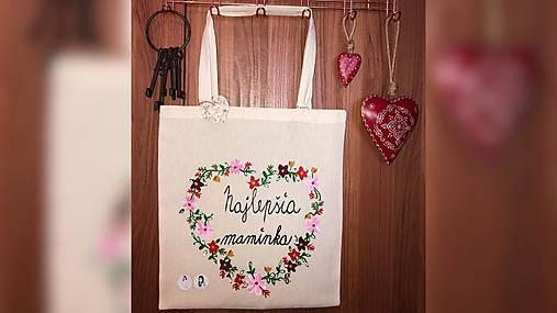 ♥ Plátená, ručne maľovaná taška ♥ (MI7)