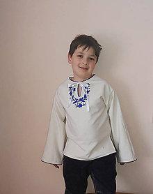 Detské oblečenie - Ľanová košeľa - 10359606_