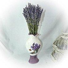 Dekorácie - Váza s levandulí I. - 10361119_