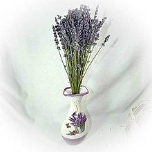 Dekorácie - Váza s levandulí II. - 10361133_