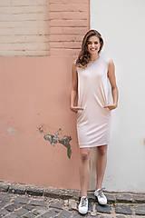 Rovné šaty s bočnými vreckami ROSE COLLECTION