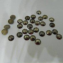 Iný materiál - Našívacie kamienky kruhové 9 mm bronzové - 10361457_