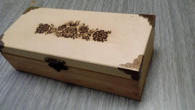 Krabičky - Šperkovnica zdobená laserom - 10361638_