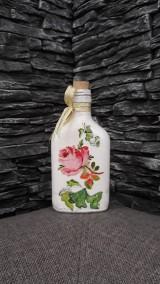 Nádoby - Fľaštička ruža - 10361498_