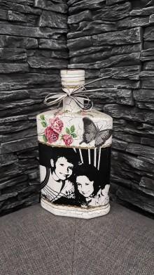 Nádoby - Dekoračná fľaša - 10361450_