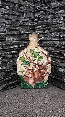 Nádoby - fľaša jelene - 10361455_