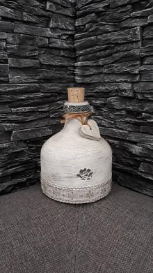 Nádoby - Fľaša dekoračná - 10361497_