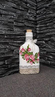 Nádoby - Fľaštička ruže - 10361512_