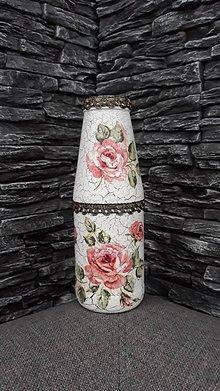 Dekorácie - Vázička ruže - 10361517_
