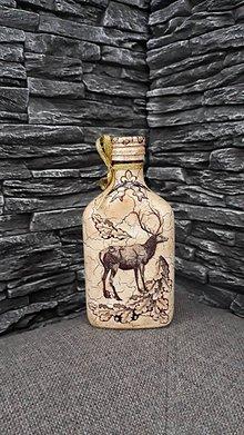 Nádoby - Dekoračná fľaštička - 10361618_