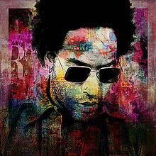 Fotografie - Pop Art Plagát - Lenny Kravitz - 10359313_