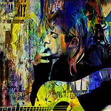 Fotografie - Pop Art Plagát - Kurt Cobain  - 10359315_
