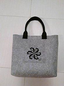 Veľké tašky - Kabelka z filcu 40 - 10360445_
