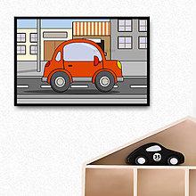Grafika - Auto - grafika do detskej izbičky (oblé trojdverové v prírode) - 10359121_