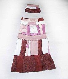 Sukne - lel, malinovo vanilková sukňa patchwork - 10362587_