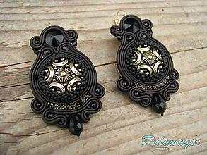 Náušnice - Button collection...soutache - 10363423_