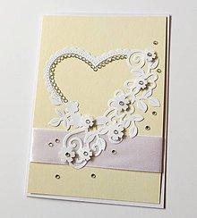 Papiernictvo - pohľadnica svadobná - 10362488_
