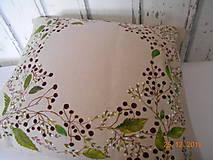 """Úžitkový textil - """"Benátska ruža""""- maľovaný vankúš na režnej bavlne, na výber 3 druhy vzorov - 10362463_"""