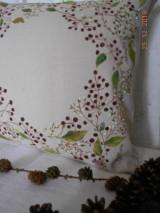 """Úžitkový textil - """"Benátska ruža""""- maľovaný vankúš na režnej bavlne, na výber 3 druhy vzorov - 10362466_"""