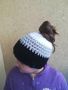 Čiapky - čiapka pre culíkaté holky - podšitá - 10365142_