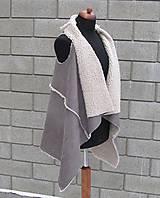 Iné oblečenie - Kožušinová vesta Sivá - 10363929_