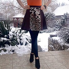 Sukne - Hnedá termo sukňa - 10366078_