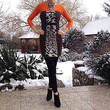 Šaty - Hnedé termo šaty/ šatová sukňa - 10366184_