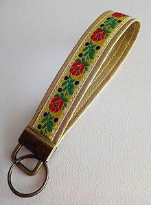 Kľúčenky - Kľúčenka - folklór (zlatá) - 10365470_