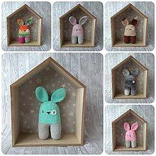 Hračky - Háčkovaný zajačik - 10366156_