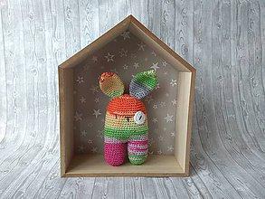 Hračky - Háčkovaný zajačik (Farebný zajko) - 10366162_