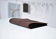 Papiernictvo - kožený zápisník s vymeniteľným obsahom NOIR - 10364206_