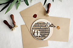 Papiernictvo - Drevené svadobné oznámenia - 10365608_
