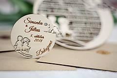 Papiernictvo - Drevené svadobné oznámenia - 10365609_