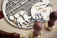 Papiernictvo - Drevené svadobné oznámenia - 10365611_