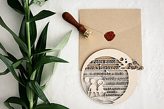 Papiernictvo - Drevené svadobné oznámenia - 10365602_