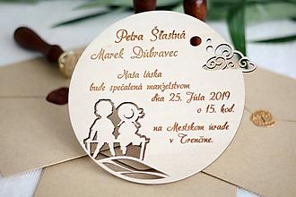 Papiernictvo - Drevené svadobné oznámenia - 10365635_