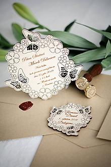 Papiernictvo - Drevené svadobné oznámenia - 10365641_
