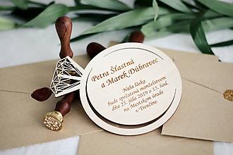 Papiernictvo - Drevené svadobné oznámenia - 10365661_