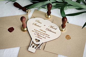 Papiernictvo - Drevené svadobné oznámenia - 10365672_