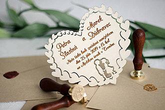 Papiernictvo - Drevené svadobné oznámenia - 10365676_